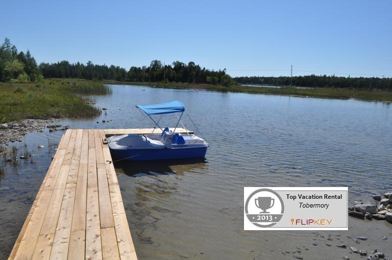 Dock at Back of Cottage on Dorcas Bay - 3 Bedroom Waterfront Cottage with Great Views! - Tobermory - rentals