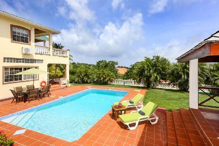 Villa Decaj - Villa overlooking golf course with pool, large balcony - Image 1 - Cap Estate - rentals