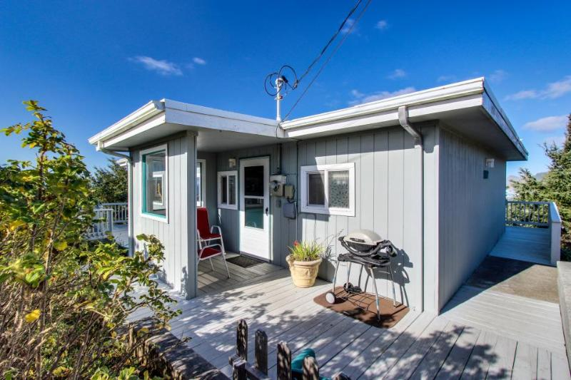 Dog-friendly cottage w/ wraparound deck & ocean views! Close to beach and town! - Image 1 - Lincoln City - rentals