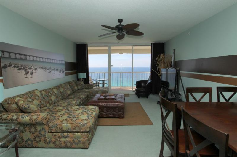 Gulf Views - Beautifully Appointed Living Area - Majestic Beach Resort T2 Unit 1907 - Panama City Beach - rentals