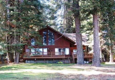 Back of the House - Crockett - Almanor West LAKEFRONT with Dock & Buoy - Lake Almanor - rentals