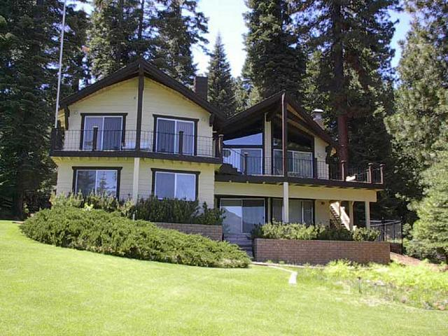 Back of Home - Country Club LAKEFRONT with Dock & Buoy - Lake Almanor - rentals