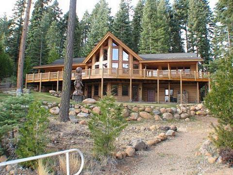 Back of Home - Country Club LAKEFRONT Plus Bunkhouse, Dock and Buoy - Lake Almanor - rentals