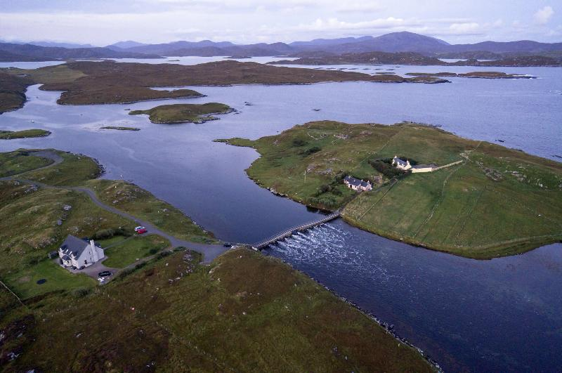 Valasay is seen here on the left. - Valasay - Great walking, Sea Views + Free WIFI. - Great Bernera - rentals