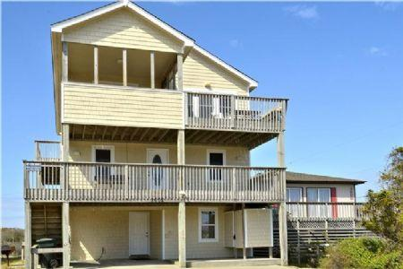 Front of house - Latitude Adjustment - Semi-Oceanfront with Private Pool - Nags Head - rentals