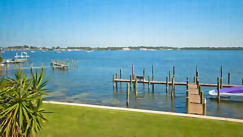 View from porch off living room - Pelican Cove 10 - Bradenton Beach - rentals