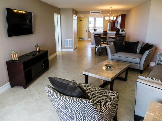 Living Area - SST3-1901 - South Seas Tower - Marco Island - rentals