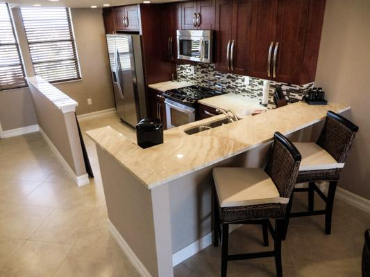 Kitchen and Breakfast Counter - SST3-1901 - South Seas Tower - Marco Island - rentals