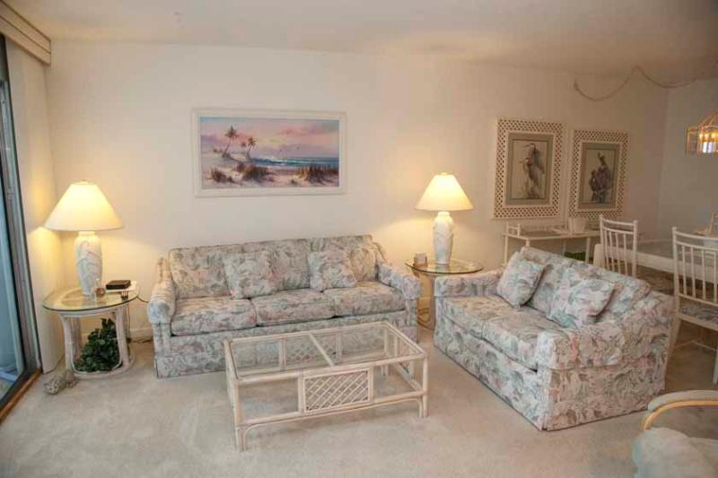 Living Room - Gulfside Small Garden Unit C - Siesta Key - rentals