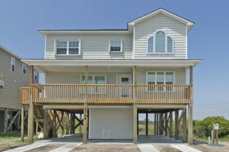 Street side of home - Island Drive 3745 - North Topsail Beach - rentals