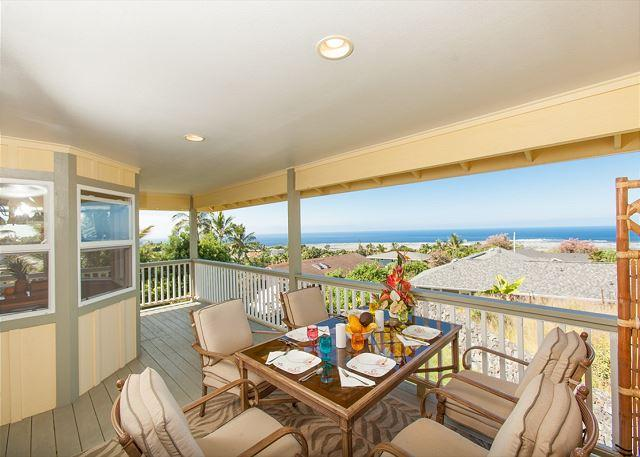 Lanai Dining - Hale Kokua- House of Comfort - Private Island Home with Ocean Views! - Kailua-Kona - rentals