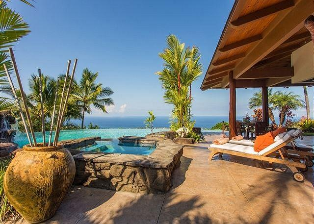 Ocean Views from Private Pool - Aloha Place - Luxurous3 Bedroom, 3 Bathroom Home with Spectacular Ocean Views-PHAloha - Kailua-Kona - rentals