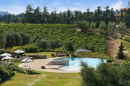 Sublime Sole del Chianti with game room, fitness room, fireplace and jacuzzi - Image 1 - Chianti - rentals