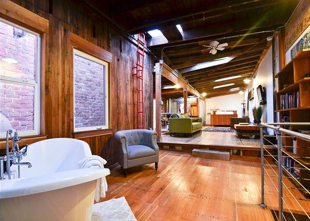 Old Town Eureka's Only Modern Loft! Crafted with Salvaged Redwood - Inspiring - Image 1 - Eureka - rentals