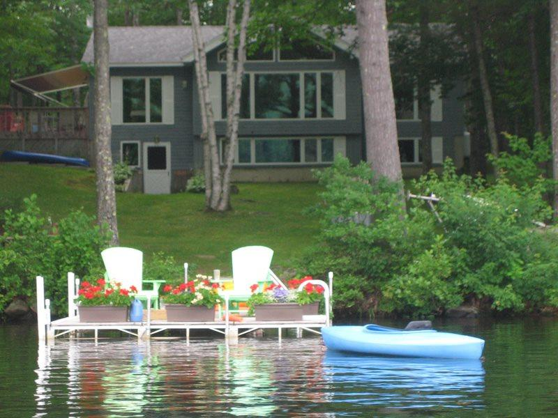 Your welcoming view of the Duck Inn from the water - DUCK INN | WAYNE MAINE | ON DEXTER POND | KAYAKING, FISHING, SWIMMING, BIRDING | FAMILY VACATION | GIRL'S WEEKEND - Wayne - rentals