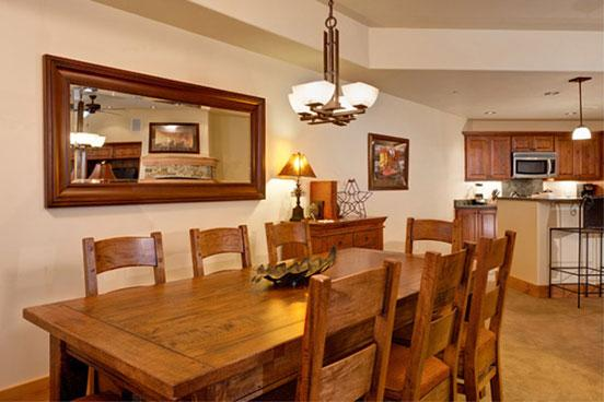 Dinning Room -  Bear Lodge 6101 - 6101 Bear Lodge, Trappeurs - Steamboat Springs - rentals