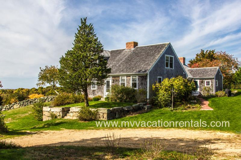 Entry Side of House - MCCAL - Waterview, A/C, WiFi, Menemsha Pond Access - Menemsha - rentals