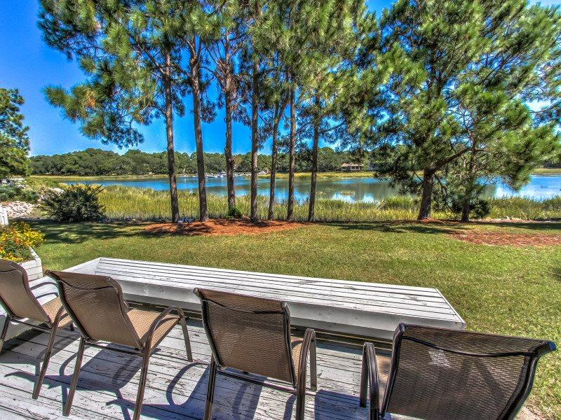 Deck with View at 4 Lands End Court - 4 Lands End Court - Sea Pines - rentals
