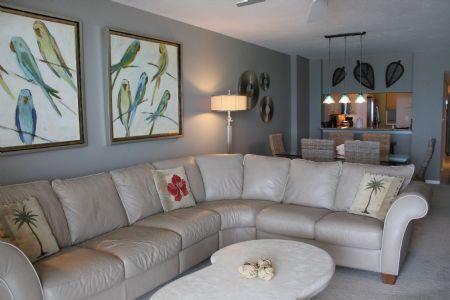 Living Area - Somerset 405 - Marco Island - rentals
