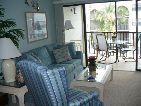Living Room - SUPER NICE CONDO -Lovely Garden views await from the balcony - Marco Island - rentals