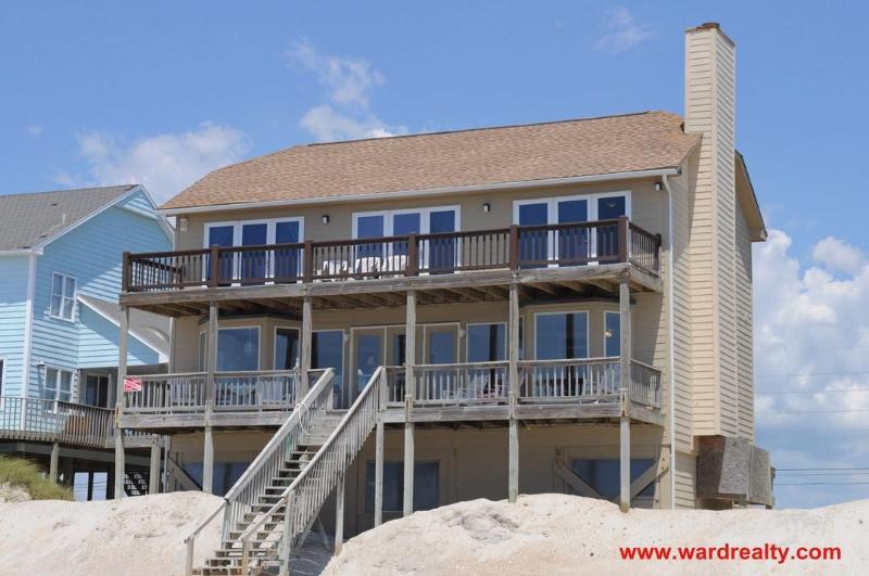 Oceanfront Exterior - A Dream Come True - North Topsail Beach - rentals