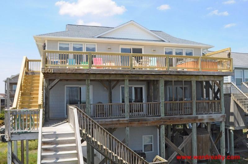 Oceanfront Exterior - 4 Reel - Topsail Beach - rentals