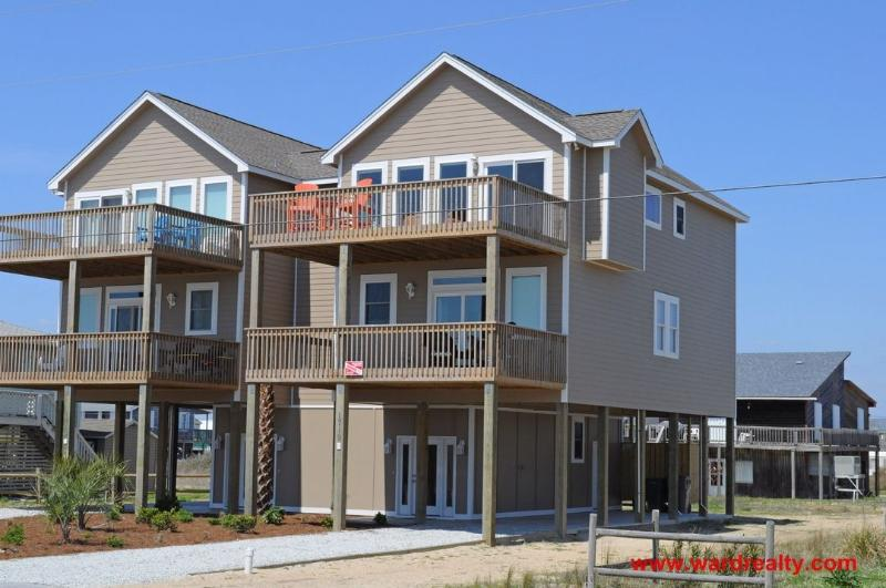 Sunchaser Exterior - 4 BR Duplex on 2nd Row Offers Magnificent Ocean Views, Elevator & Much More! - Sunchaser - Surf City - rentals