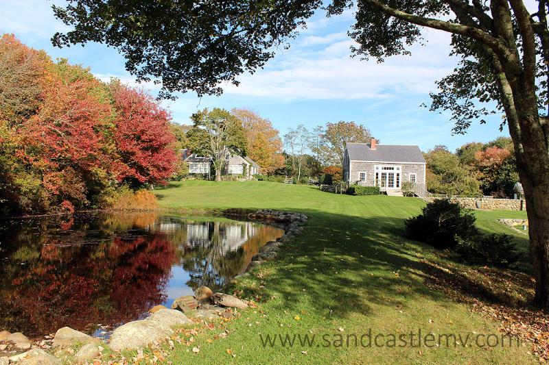 1199 - Beautiful Main House and Barn with a Pool and views over a Pond - Image 1 - Chilmark - rentals