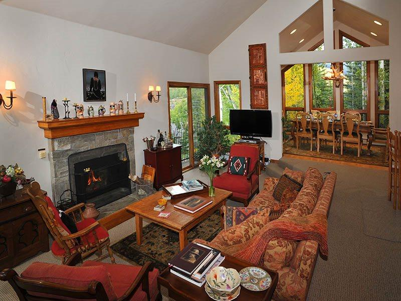 Surrounded by trees, and Spring flowers, this charming Vail vacation home sits on the slopes of Vail Mountain and provides exceptional vacation living at its best. - Image 1 - Vail - rentals