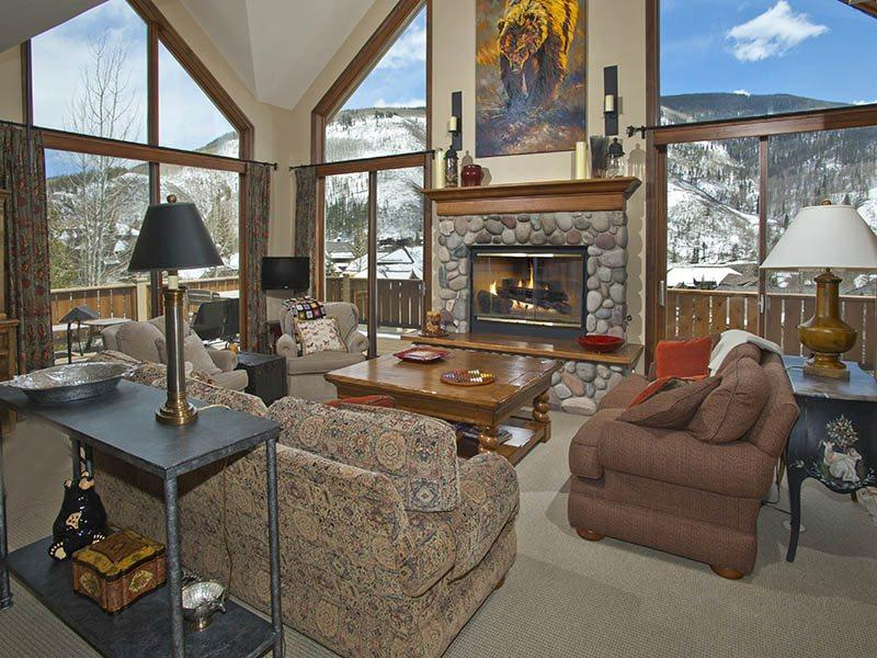 Featuring world-class views of Vail Mountain, this gorgeous 5 bedroom Vail vacation home is perfect for family and friends. - Image 1 - Vail - rentals