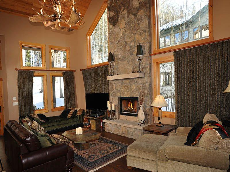 You`ll find this 5 bedroom Vail vacation home at 2040 Meadow Brook Drive, nestled into the forested woods of Vail Mountain. - Image 1 - West Vail - rentals