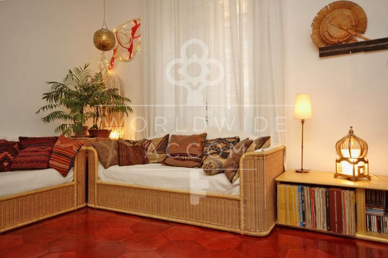 salotto con due letti - Trastevere orto  botanico     *2 BR *AC *WI-FI - Rome - rentals