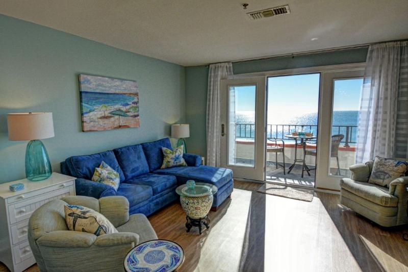 Living Room - Villa Capriani 217-A Oceanfront | 3 Pools, Largest Pool on NC Coast, 2 Hot - North Topsail Beach - rentals