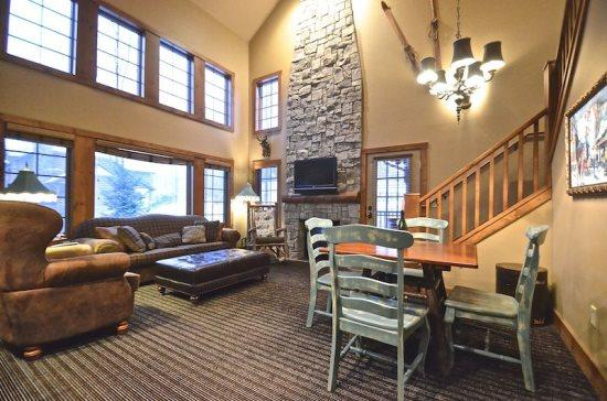 Spacious Living Room with Queen Sofa Sleeper, Flat Screen TV, and DVD Player - 4BR Creekside Condo - Ski In/Ski Out Luxury - Boyne Falls - rentals
