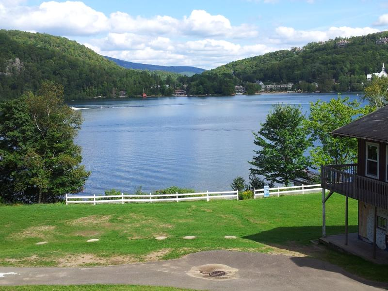 View of the lake from camp property. - Up to 52 People! 600' Private Lake! 28 Acres! - Mont Tremblant - rentals