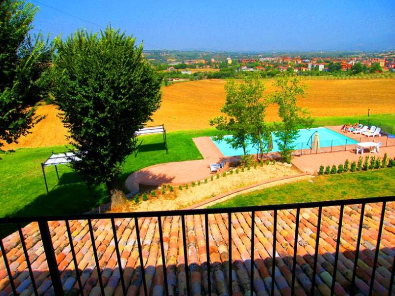 view from balcony of APT 2 - Spoleto By The Pool: APT 2. Central Spoleto/0.7 ml - Spoleto - rentals