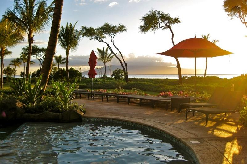 Sit right at the pool and enjoy the gorgeous sunsets nightly - Luxury Amenities And More Room Than a Hotel Starting at $275/Night. Click Here! - Viridian Peaks at 520 Konea - Ka'anapali - rentals