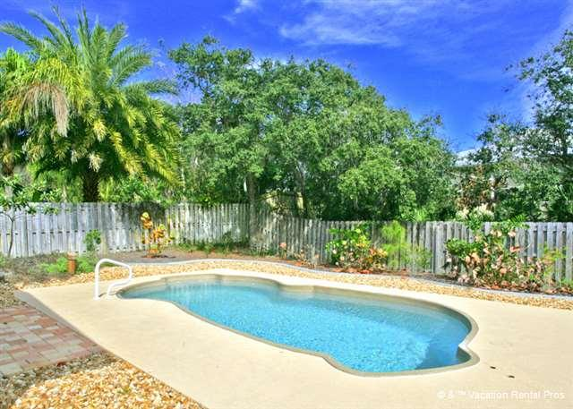 Take a dip in our private salt water pool - Fan-ta-sea Beach House 4 bedrooms, Private Heated Pool - Saint Augustine - rentals
