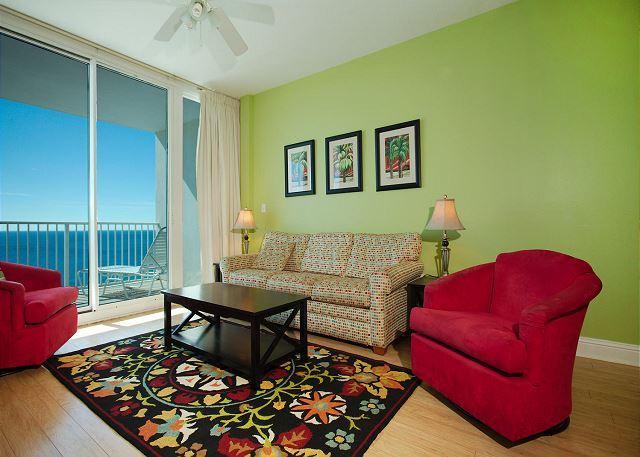 Living Room - Lighthouse 1207 - Gulf Shores, AL - Open Dates: April 11-30 - Gulf Shores - rentals