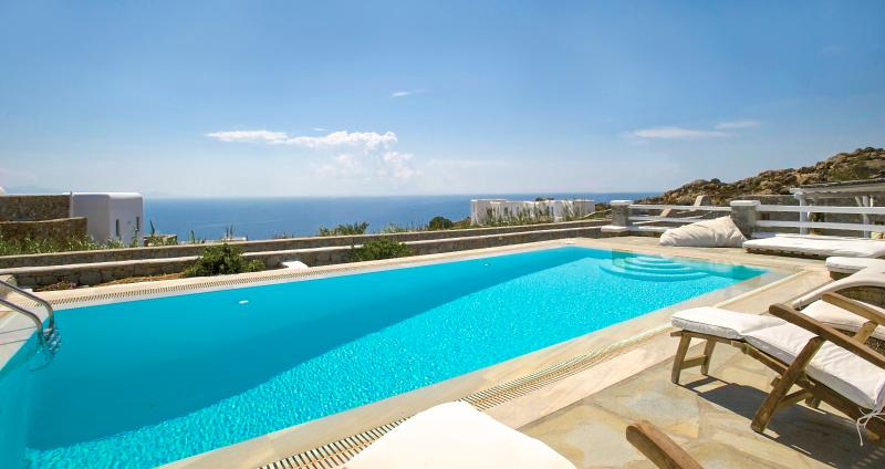 View from pool - Villa Mando 2 - Amazing Sea View- Private Pool - Mykonos - rentals