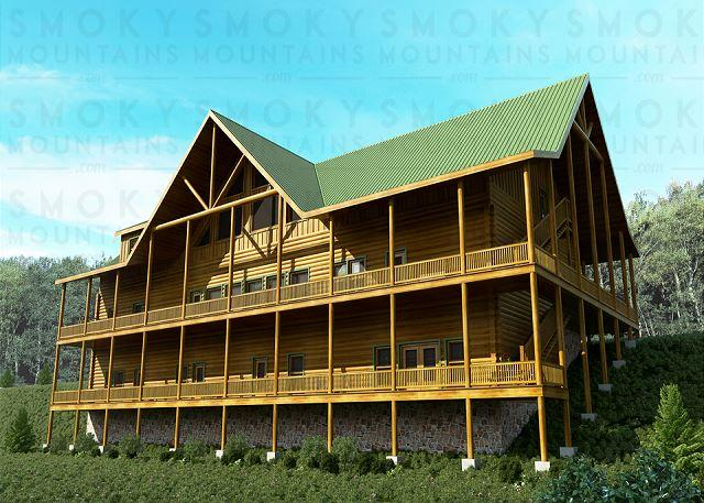 Beautiful Sherwood Splash Lodge - 11 BR Luxurious Pigeon Forge Lodge. Sleeps 52. Summer Special from $549! - Pigeon Forge - rentals