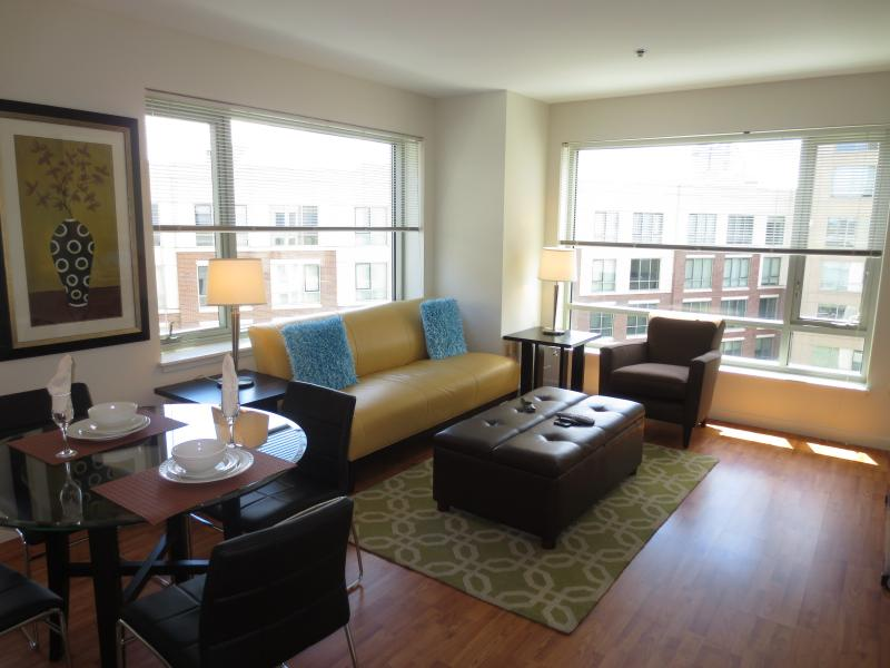 Living room - Lux 1BR by Fenway w/WiFi - Boston - rentals