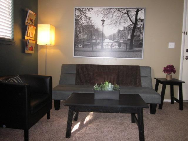 Front fiew of living room - 2 miles from downtown/Salt Palace - 2 BD/1BA WIFI - Salt Lake City - rentals