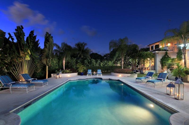 SARAMANDA SANDY LANE POOL TWILIGHT.jpg - Sandy Lane - Saramanda - Saint James - rentals