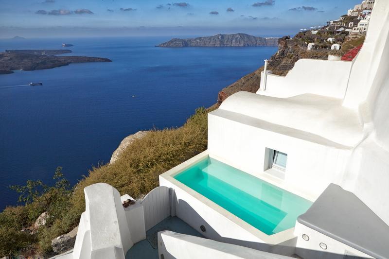 2 bedroom stylish villa with fantastic views - Image 1 - Imerovigli - rentals