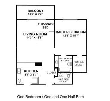1 Bedroom, 1.5 bath floor plan, sleeps 6 - Fort Lauderdale Beach Resort - Fort Lauderdale - rentals