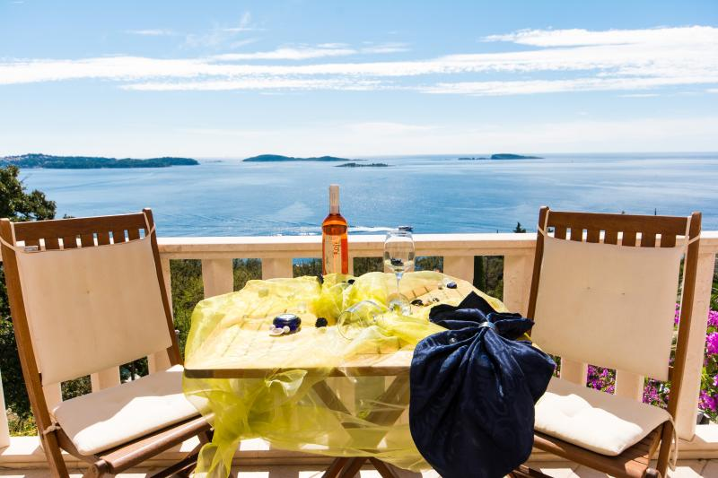 Your private balcony - Apartment with Beautiful sea view near Dubrovnik - Dubrovnik - rentals