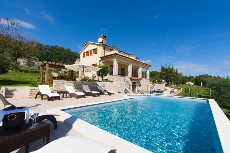 Lounge by the pool and enjoy an amazing view from this stunning villa - Image 1 - Sveta Katarina - rentals