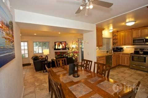 Dining room, kitchen and living room view - Strand Beach Ocean View Condo - Dana Point - rentals
