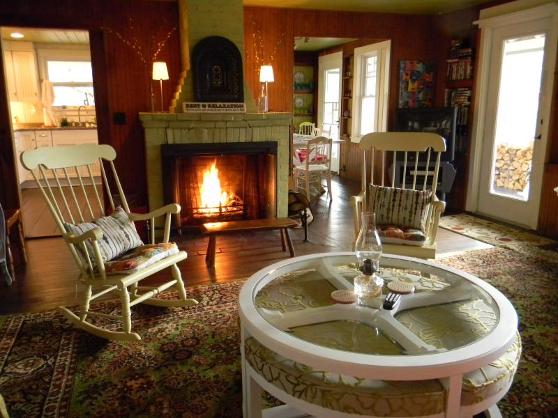 Get cozy by the fire. Firewood on premises. - Cozy Fireplace | Views | Dogs Welcome - Bartlett - rentals